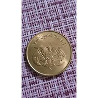 Йемен 10 филс 1974 г ФАО ( надпись выше орла )