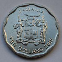 Ямайка, 10 долларов 2015 г.
