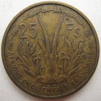 Французская Западная Африка 25 франков 1956 г. (u)