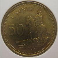 Лесото 50 лисенте 1998 г. В холдере (gk)