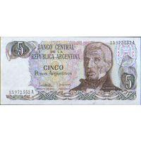 Аргентина  5 песо  1983 г. унс
