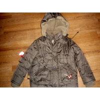 Куртка зимняя, девочка. рост 116-128