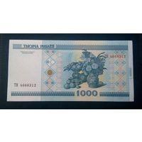 1000 рублей 2000 год серия ТВ