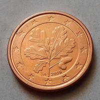 1 евроцент, Германия 2005 A, AU