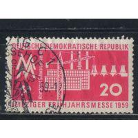 """Германия ГДР 1959 Выставка Лейпциг Представление промкомплекса """"Черный насос"""" #678"""