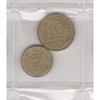 5 сантимов 1978 и 10 сантимов 1976. Возможен обмен