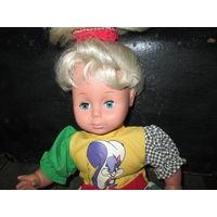 Кукла из СССР.высота 45 см.
