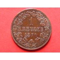 1 крейцер 1870 года Великое герцогство Баден