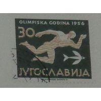 Олимпийские игры в Мельбурне. Югославия. Дата выпуска:1956-10-24