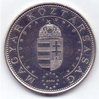 Венгрия, 50 форинтов 2004 года. Памятная, год вступления в ЕС.