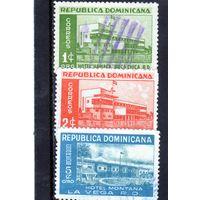 Доминиканская республика.Ми-500,501,502.Отель Jimani, Jimani.Hotel Hamaca, Boca Chica. Серия: Отели.1950.