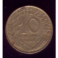 10 сантимов 1990 год Франция