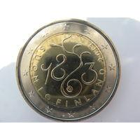 Финляндия 2 евро 2013 г. 150 лет Парламенту. (юбилейная) UNC!