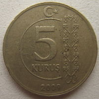 Турция 5 куруш 2009 г. (g)