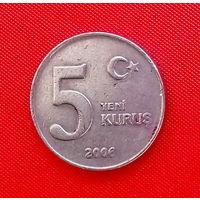 37-28 Турция, 5 куруш 2006 г.