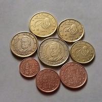 Полный ГОДОВОЙ набор евро монет Испания 2001 г. (1, 2, 5, 10, 20, 50 евроцентов, 1, 2 евро)
