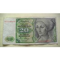 Германия ФРГ 20 марок 1980г.   распродажа
