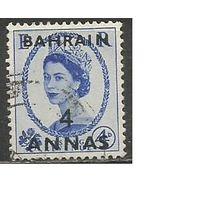 Бахрейн. Королева Елизавета II. Надпечатка на Британии #263. 1952г. Mi#85.