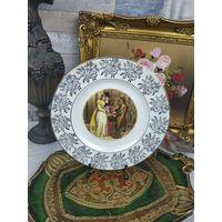 Коллекционная тарелка Фарфор Роспись Клеймо Золочение