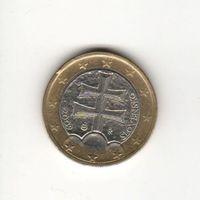1 евро Словакия 2009 Лот 7013
