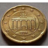 20 евроцентов, Германия 2014 А, AU
