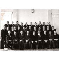 Фото. Машеров П.М и Аксенов А.Н. с группой награжденных правительственными наградами. 1970-е.