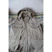 Мужская куртка удлиненная с зимней подстежкой, р. 52-54