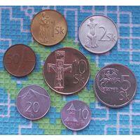 Словакия 10, 20, 50 геллер, 1, 2, 5, 10 крон. UNC. Подписывайтесь! Много новых лотов в продаже!!!