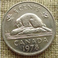 5 центов 1978 Канада