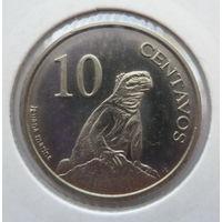 """Галапагосские острова 10 сентаво 2008 """"Галапагосская морская игуана, герб"""""""