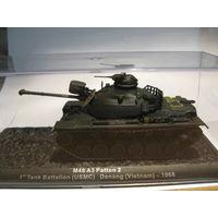 M48 A3 Patton 2 1st Tank Battalion USMC Danang Vietnam 1968.