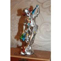 """Статуэтка """"Клоун"""", высота 15.5 см., материал полимер, Италия, laminato argento."""