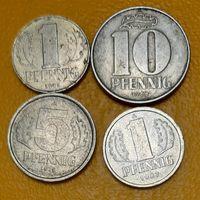 ГДР: Все разные 4 монеты 1968-1987, VF_Много лотов в продаже