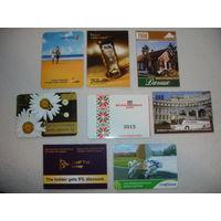 Календарики 2006-2015 одним лотом 8 шт