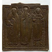 Икона ,,Три Святителя,, редкий извод.