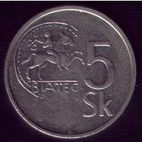 5 Крон 1993 год Словакия