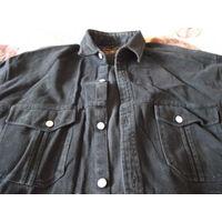Черная вельветовая рубашка