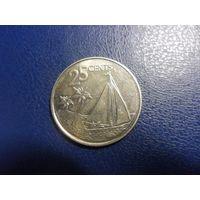 Багамские острова 25 центов 2015 г