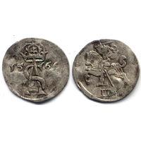 Двуденарий 1566, Жигимонт Август, Вильно