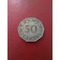 Мальта 50 центов 1972