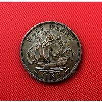 56-21 Великобритания, 1/2 пенни 1960 г.