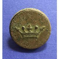 Ливрейная пуговица  (дворянская корона). Диаметр 2,6 см.
