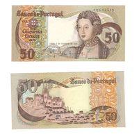 Банкнота Португалия 50 эскудо 1980 XF Инфанта Мария, вид на город Синтра 1507 AQК 02518