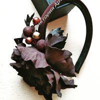Шоколад ммм...шоколадный Аксессуар-ободок замша