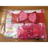 Детский набор: повязка и резиночки. Новый, в упаковке. Не пользовались.