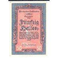 YS: Лихтенштейн, 50 геллеров (1920), P# 3, XF, редкость!
