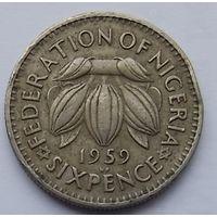 Нигерия 6 пенсов 1959