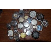 Сборный лот часов на ремонт. На последнем фото механические часы рабочие.