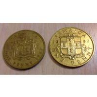 1 пенни Ямайка 1960 и 1967 года (цена за все, из коллекции)