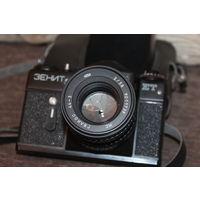 Фотоаппарат ЗЕНИТ ЕТ с объективом Гелиос 44-3, времён СССР.